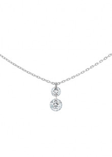 COLLIER DUO 360°, 2 diamants brillants, 0,35 carat