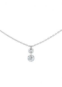 COLLIER DUO 360°, 2 diamants brillants, 0,35 carat