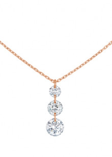 COLLIER TRIO 360°, 3 diamants brillants,  0,40 carat