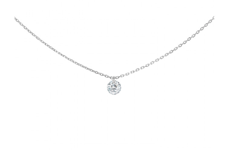 COLLIER 360°, diamant brillant 0,07 carat - 1