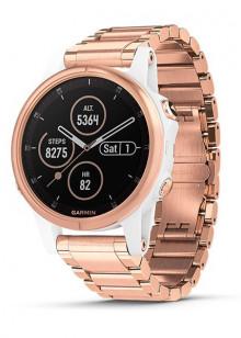 fenix® 5S Plus, Sapphire, Rosegold avec bracelet en métal goldtone