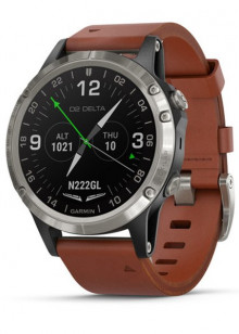 D2™ Delta, Aviator Watch with Brown Leather Band