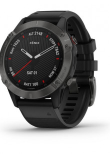 fenix6 - Sapphire, carbon gray DLC avec bracelet noir