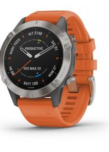 fenix6 - Titane avec bracelet orange