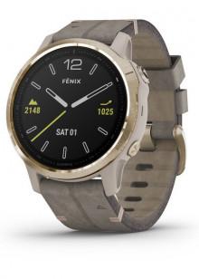 fenix6S - Gold Tone avec bracelet en Daim gris