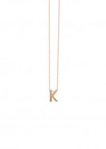 Abécédaire - collier or rose